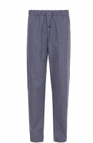 Хлопковые домашние брюки свободного кроя Hanro. Цвет: серый