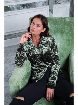 Рубашка Вестетика. Цвет: зеленый, оливковый