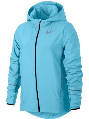 Куртка G NK JKT HD RUN Nike. Цвет: синий