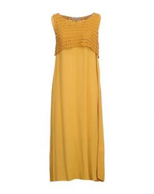 Платье длиной 3/4 PAOLO CASALINI. Цвет: охра