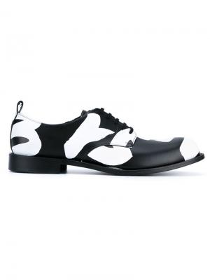 Туфли-дерби с графическим принтом Freedom Comme Des Garçons Homme Plus. Цвет: чёрный