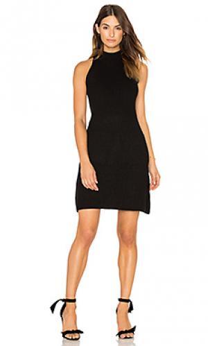 Вязаное платье в рубчик scarlett Bishop + Young. Цвет: черный