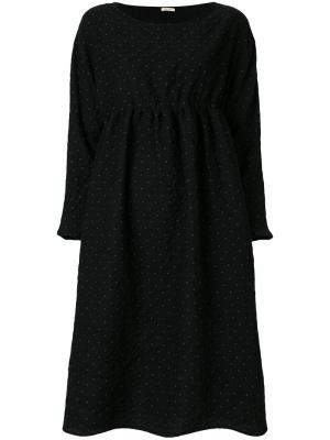 Платье в горох с завязкой сзади Apuntob. Цвет: чёрный