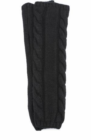 Кашемировые митенки фактурной вязки Kashja` Cashmere. Цвет: черный
