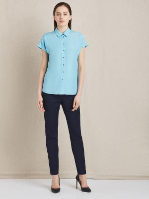 Блуза женская Charuel. Цвет: голубой, серо-голубой, темно-серый