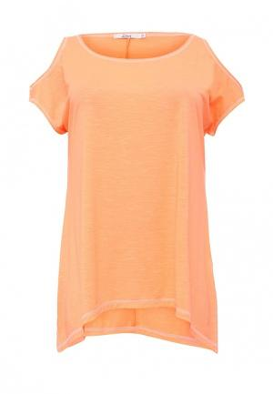 Футболка Lina. Цвет: оранжевый