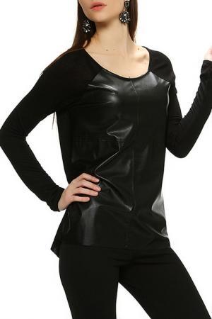 Блуза BSL FASHION. Цвет: черный