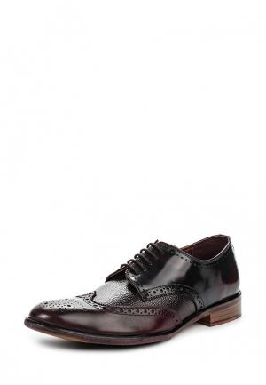 Туфли London Brogues. Цвет: бордовый