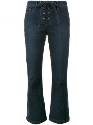 Расклешенные джинсы Le Crop Mini Boot Frame Denim. Цвет: синий