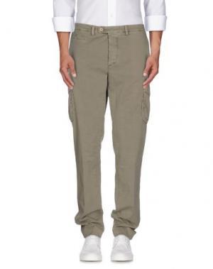 Повседневные брюки PIATTO. Цвет: зеленый-милитари