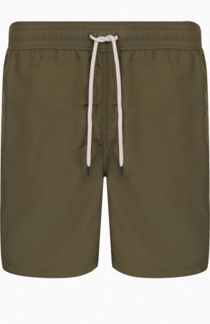 Плавки-шорты с карманами Polo Ralph Lauren. Цвет: оливковый