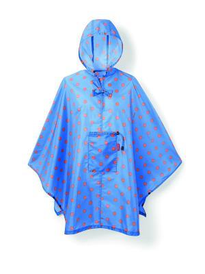 Дождевик Mini maxi azure dots Reisenthel. Цвет: синий, красный