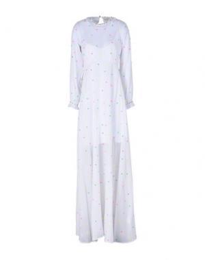 Длинное платье MANOUSH. Цвет: белый