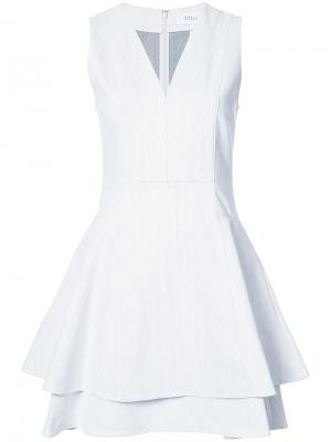 Расклешенное многослойное платье Derek Lam 10 Crosby. Цвет: белый