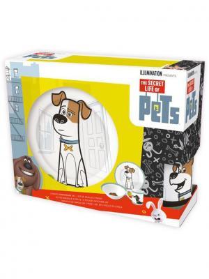 Набор посуды керамической в подарочной упаковке (3 предмета). Тайная жизнь домашних животных Stor. Цвет: белый, желтый, красный, черный