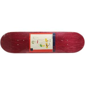 Дека для скейтборда  SSS №2 Burgundy 32 x 8.125 (20.6 см) Absurd. Цвет: бордовый