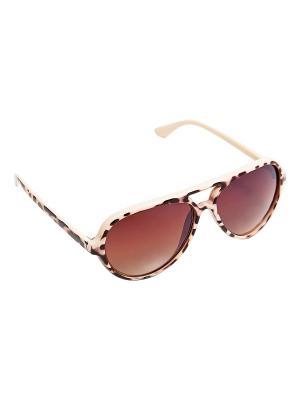 Солнцезащитные очки Kameo-bis. Цвет: коричневый, бежевый