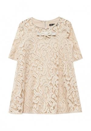 Платье Choupette. Цвет: бежевый