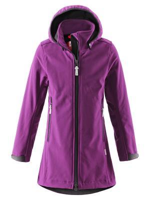 Куртка Reima. Цвет: фиолетовый