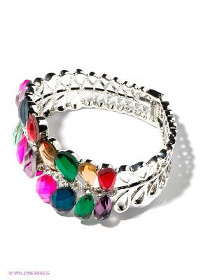 Браслет Royal Diamond. Цвет: серебристый, розовый, зеленый