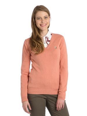 Пуловер U.S. Polo Assn.. Цвет: оранжевый, персиковый
