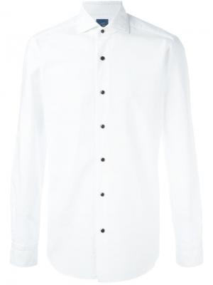 Классиеская рубашка Barba. Цвет: белый