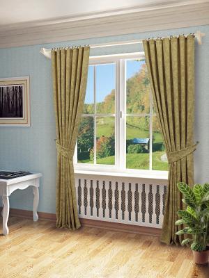 Комплект штор SANPA HOME COLLECTION. Цвет: бежевый