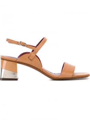 Босоножки на массивном каблуке LAutre Chose L'Autre. Цвет: телесный