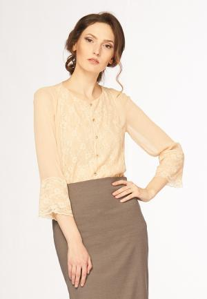 Блуза Ано. Цвет: бежевый