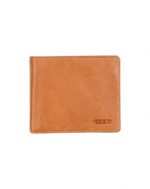Бумажник GIUDI. Цвет: желто-коричневый