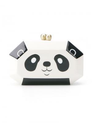 Клатч в виде панды Serpui. Цвет: белый