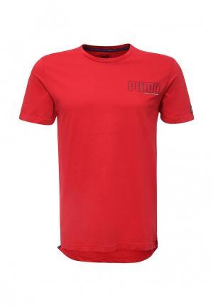 Футболка PUMA. Цвет: красный