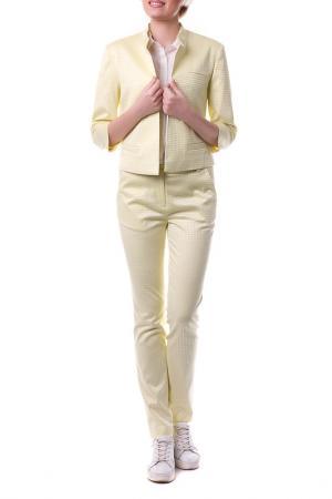 Пиджак OKS BY OKSANA DEMCHENKO. Цвет: желтый, гусиная лапка
