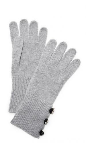 Кашемировые перчатки с декоративной отделкой Marc Jacobs