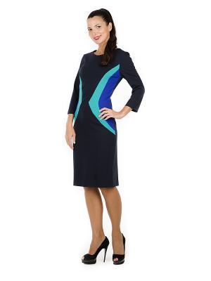 Платье PROFITO AVANTAGE. Цвет: темно-синий, синий, бирюзовый