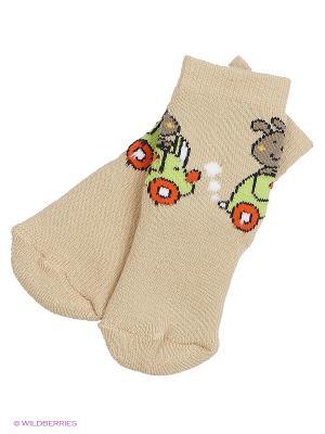 Махровые носки Malerba. Цвет: бежевый