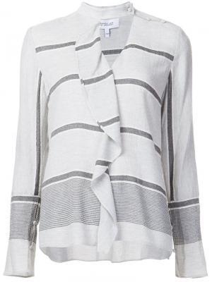 Блузка с оборками Derek Lam 10 Crosby. Цвет: серый