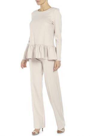 Костюм: блуза, брюки Adzhedo. Цвет: бежево-розовый
