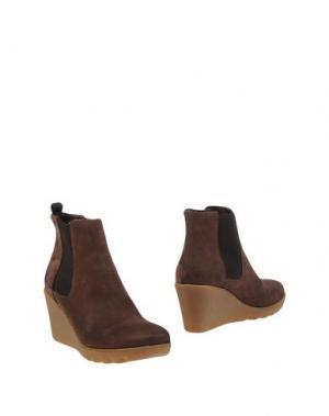 Полусапоги и высокие ботинки KEYS. Цвет: хаки