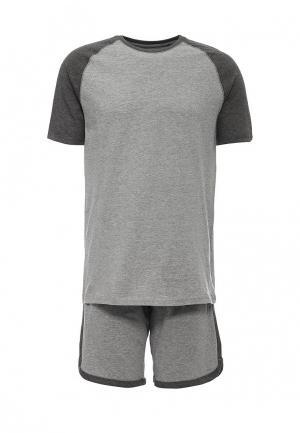 Пижама Celio. Цвет: серый