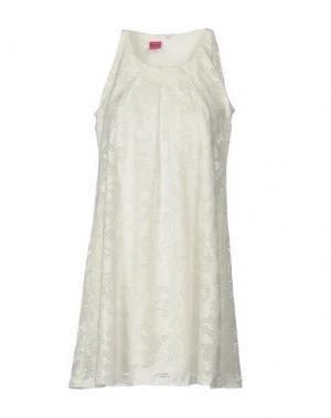 Короткое платье SAVE THE QUEEN. Цвет: белый