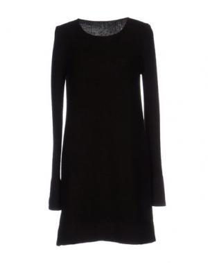 Короткое платье BASE. Цвет: темно-коричневый