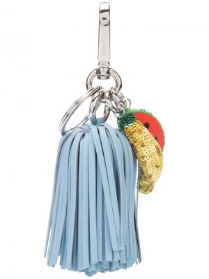 Брелок для ключей Ghianda Tassel Fruits Altuzarra. Цвет: синий