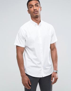 Troy Поплиновая рубашка с коротким рукавом. Цвет: белый