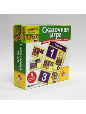 Игра настольная Сказочная игра. Lisciani. Цвет: зеленый, желтый, салатовый