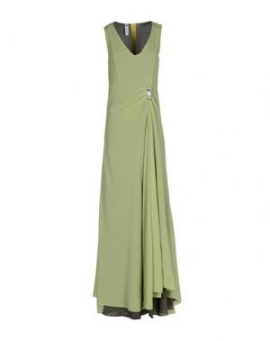 Длинное платье MICHAEL DASS. Цвет: кислотно-зеленый
