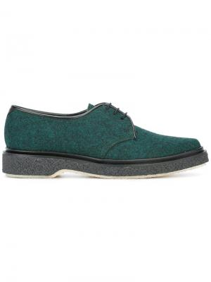 Type 53 lace-up shoes Adieu Paris. Цвет: зелёный