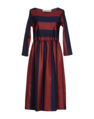 Платье до колена SHIRTAPORTER. Цвет: красно-коричневый
