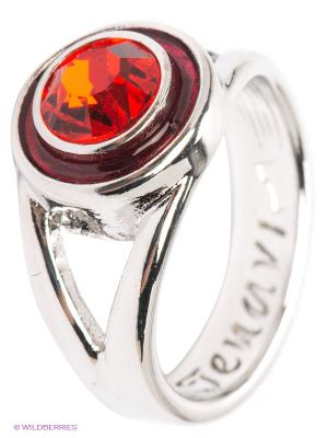Кольцо Jenavi. Цвет: серебристый, красный