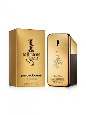 Million 1 man edt 50 ml PACO RABANNE. Цвет: золотистый